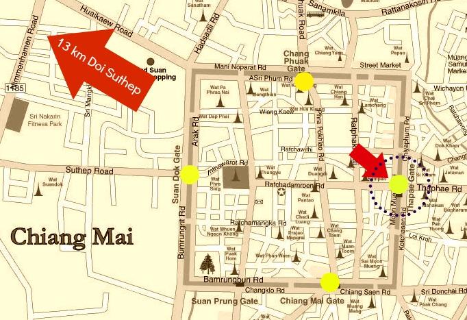Mapa De Chiang Mai.Visita Al Doi Suthep En Chiang Mai
